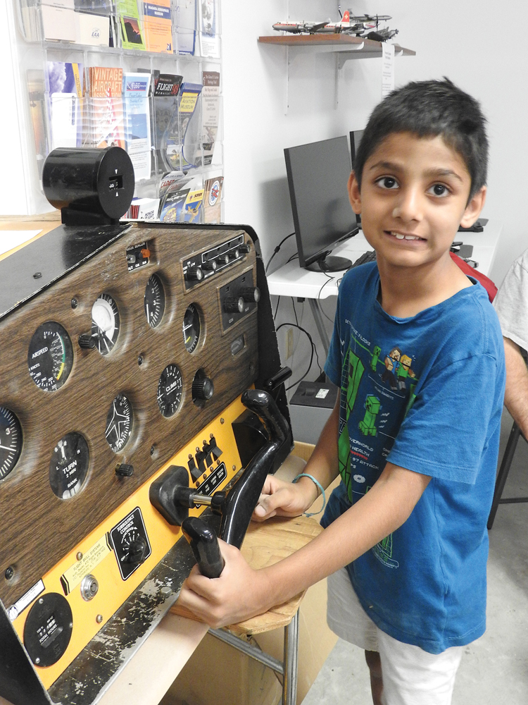 Kevin Rana is at a Flight Simulator from the 1970's, operating system uses cassette tapes.
