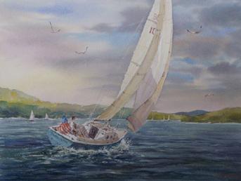 A watercolor by David J. Braun.