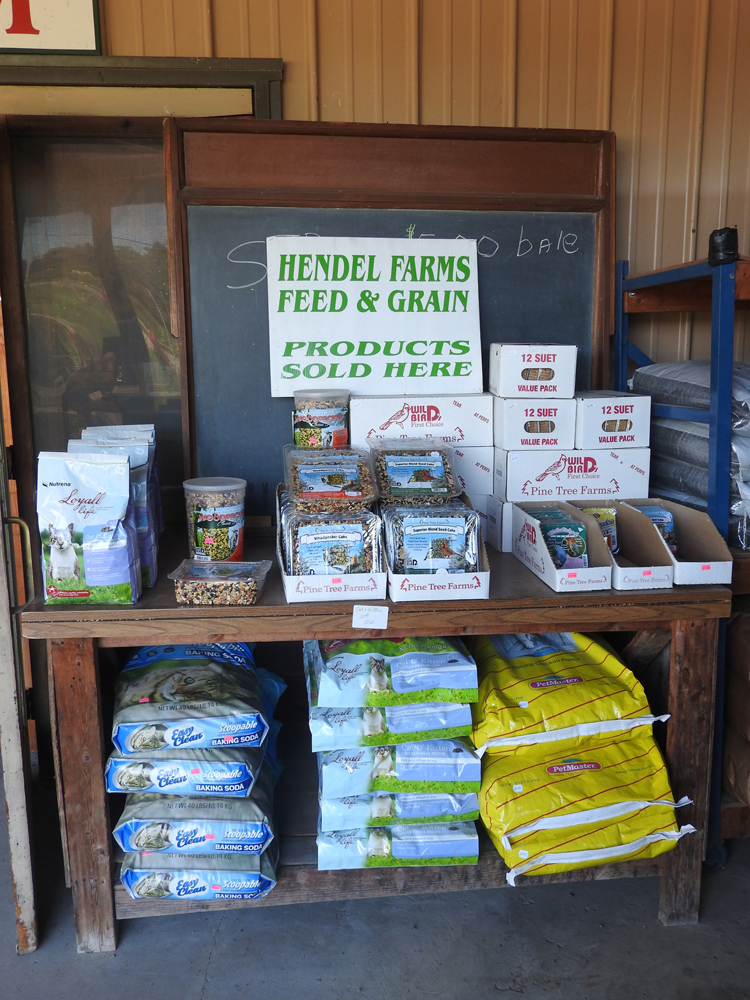 Hendel Farms feed and grain products are now being sold at Partyka Farms in Kendall.