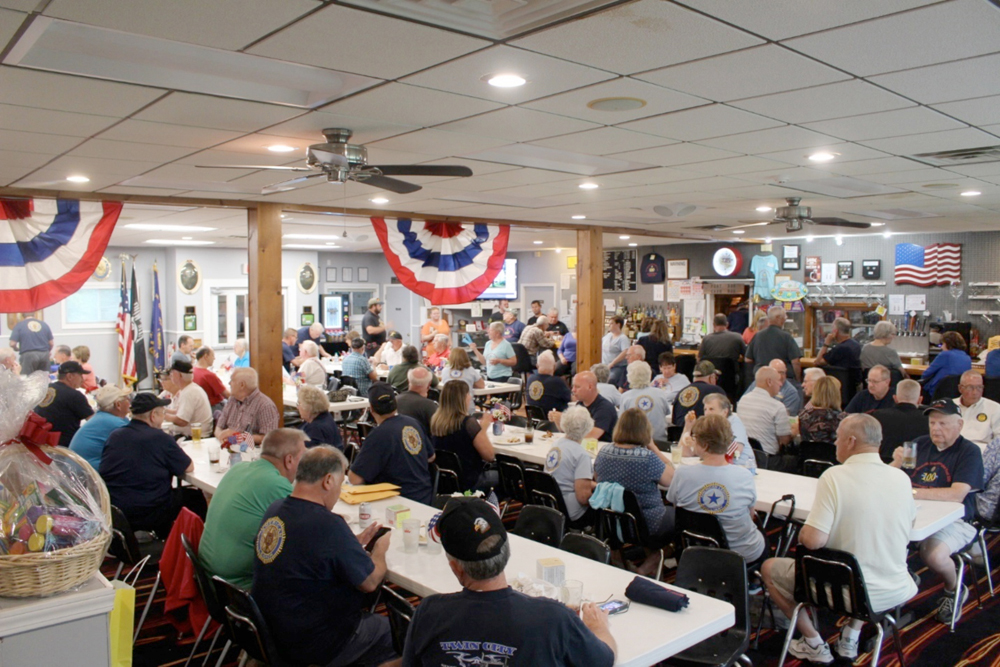 A large number turned out to help Post 330 celebrate their centennial.