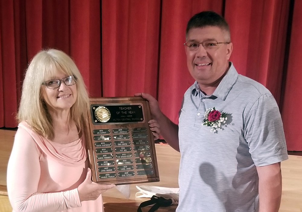 Robert Berg, a math teacher at Merton Williams Middle School, was named this year's Hilton Central School District Teacher of the Year.