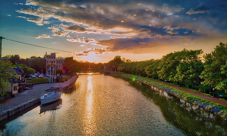 Brockport at Sunset by Kyle Preston