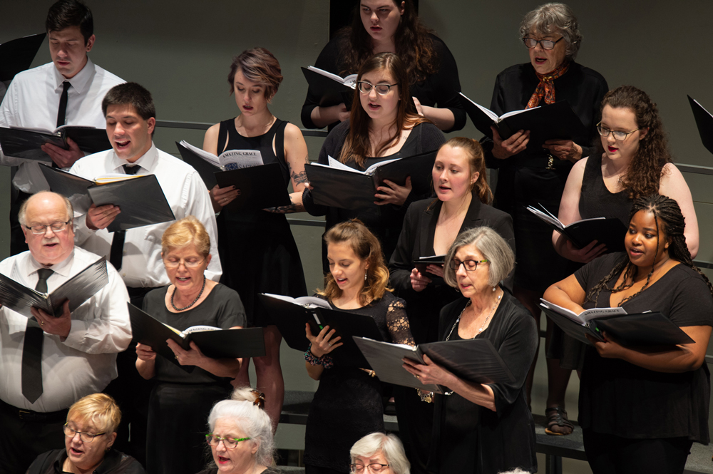 """The Brockport College-Community Chorus will present their annual """"Sounds of the Season"""" holiday concert on Sunday, December 8."""