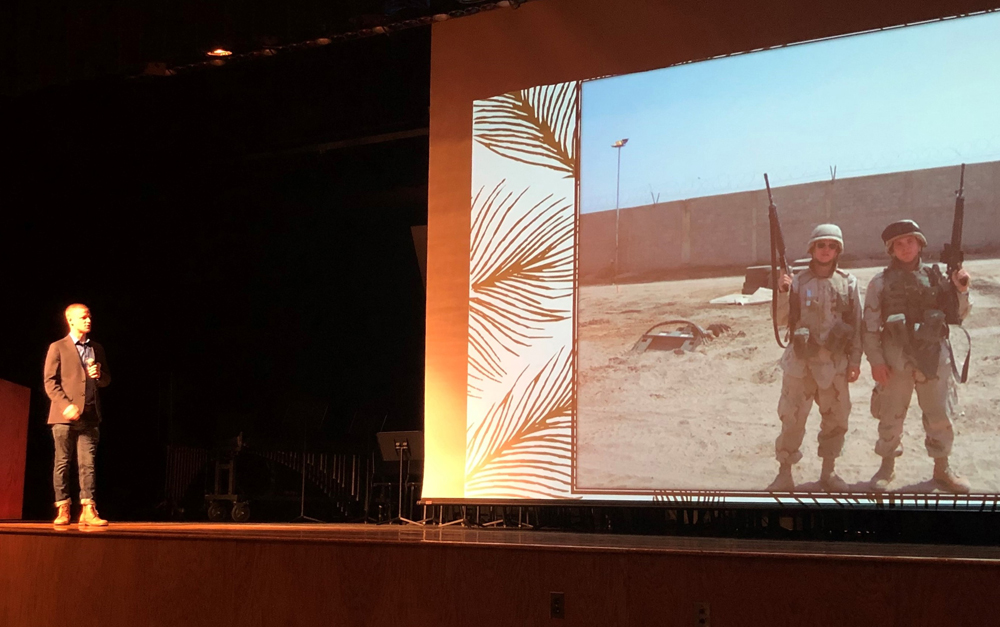 Ryan Smithson shared his experiences as a 19-year-old GI.