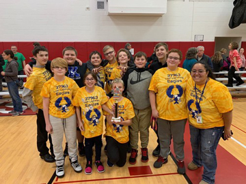 The team won the Champions Award at a qualifying tournament and will now move on to regional competition.
