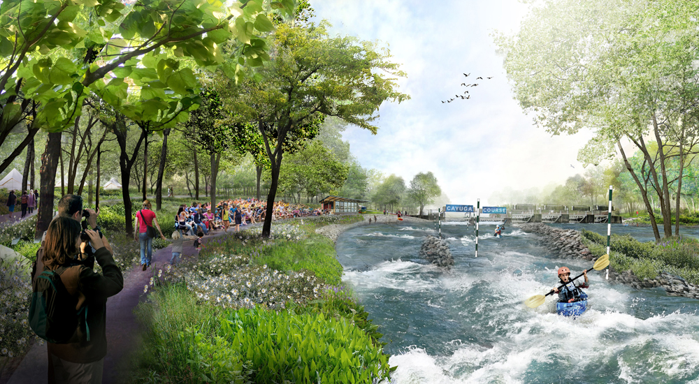 A new whitewater destination is planned for the north end of Cayuga Lake near Seneca Falls.