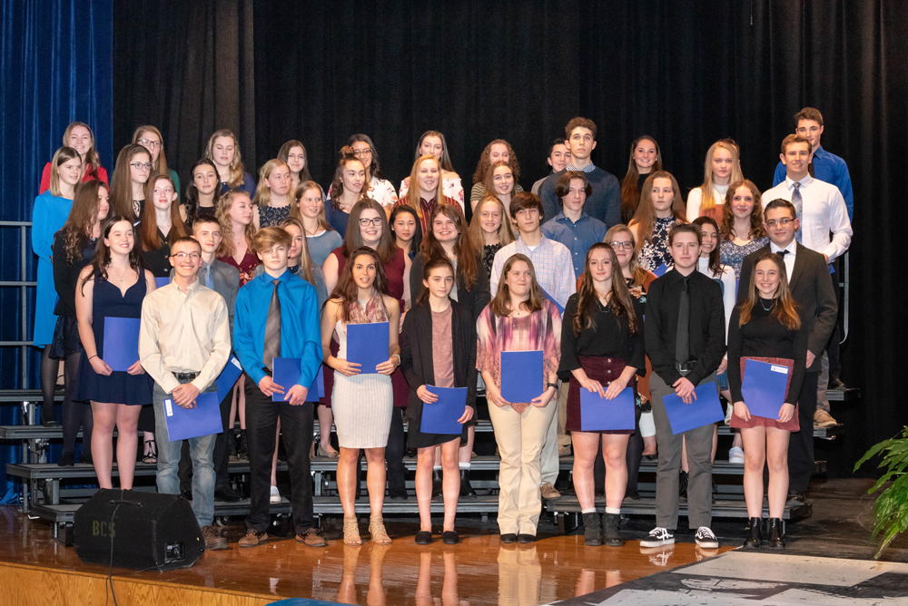 Brockport National Honor Society inductees.
