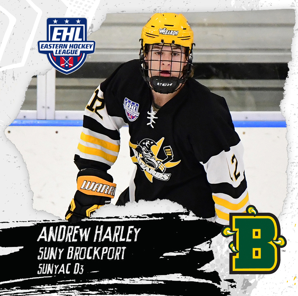 Andrew Harley has committed to play hockey for SUNY Brockport next fall. Photo courtesy of easternhockeyleague.org