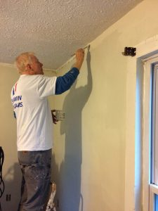 Volunteer Ward Staubitz was happy to lend a hand to a neighbor in need. Provided photo