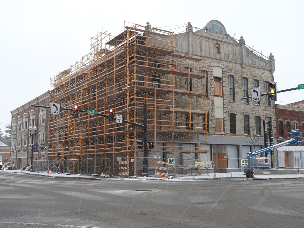 The historic Bent's Opera House in downtown Medina is being restored and transformed into a farm-to-table restaurant, boutique hotel, and event space.