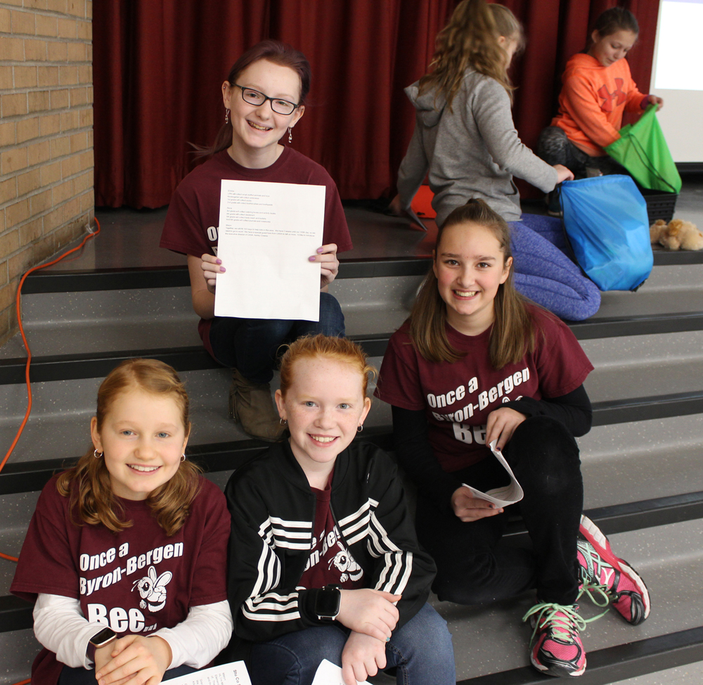 Byron-Bergen Elementary School Student Council officers. Photo by Amanda Dedie