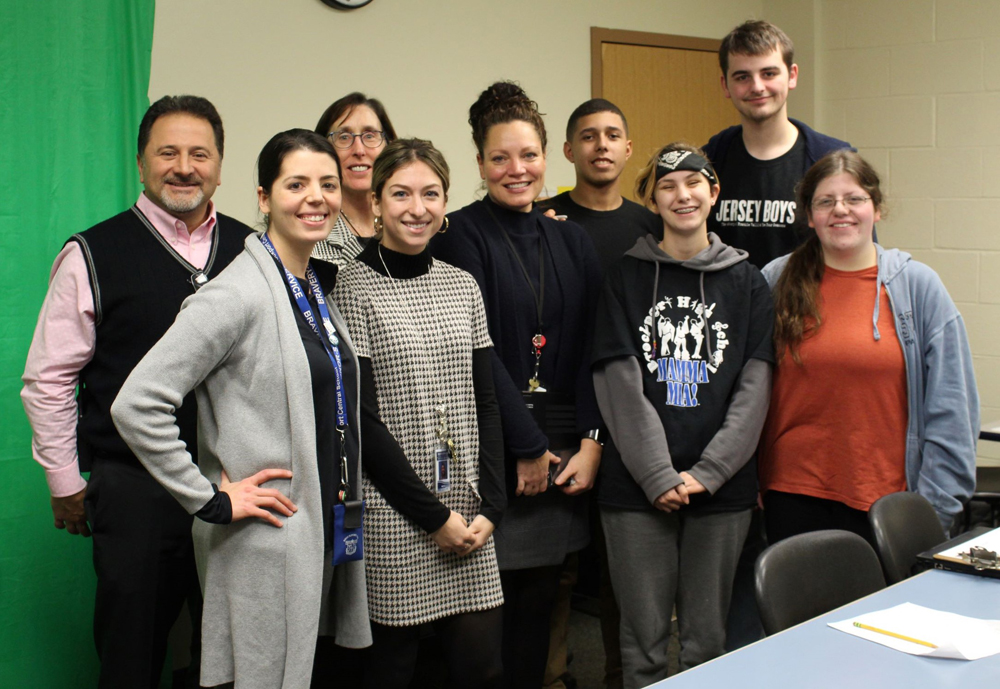 Brockport High School students and staff worked together to launch a campus podcast.