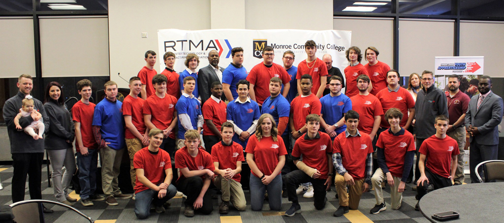 This year's group of students who were selected for the Finger Lakes Youth Apprenticeship Program.