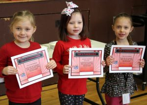 Top fundraisers (l-r) Lilly, Analise and Carlene were honored for their hard work.