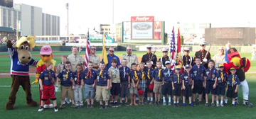 Cub Scout Pack 724 of Hamlin and members of the United States Marine